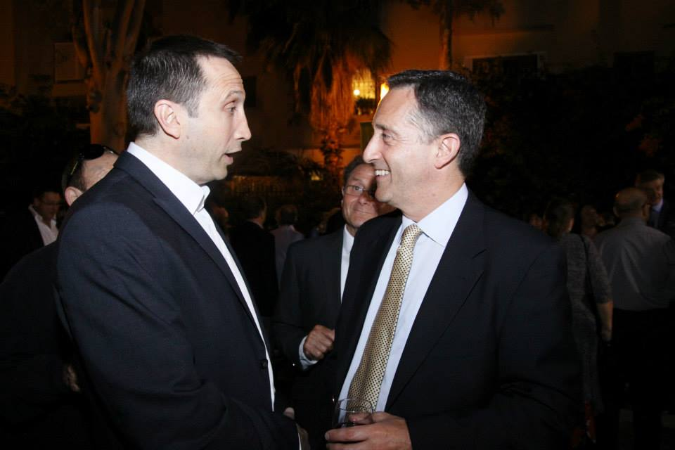 With Maccabi Tel Aviv Coach David Blatt